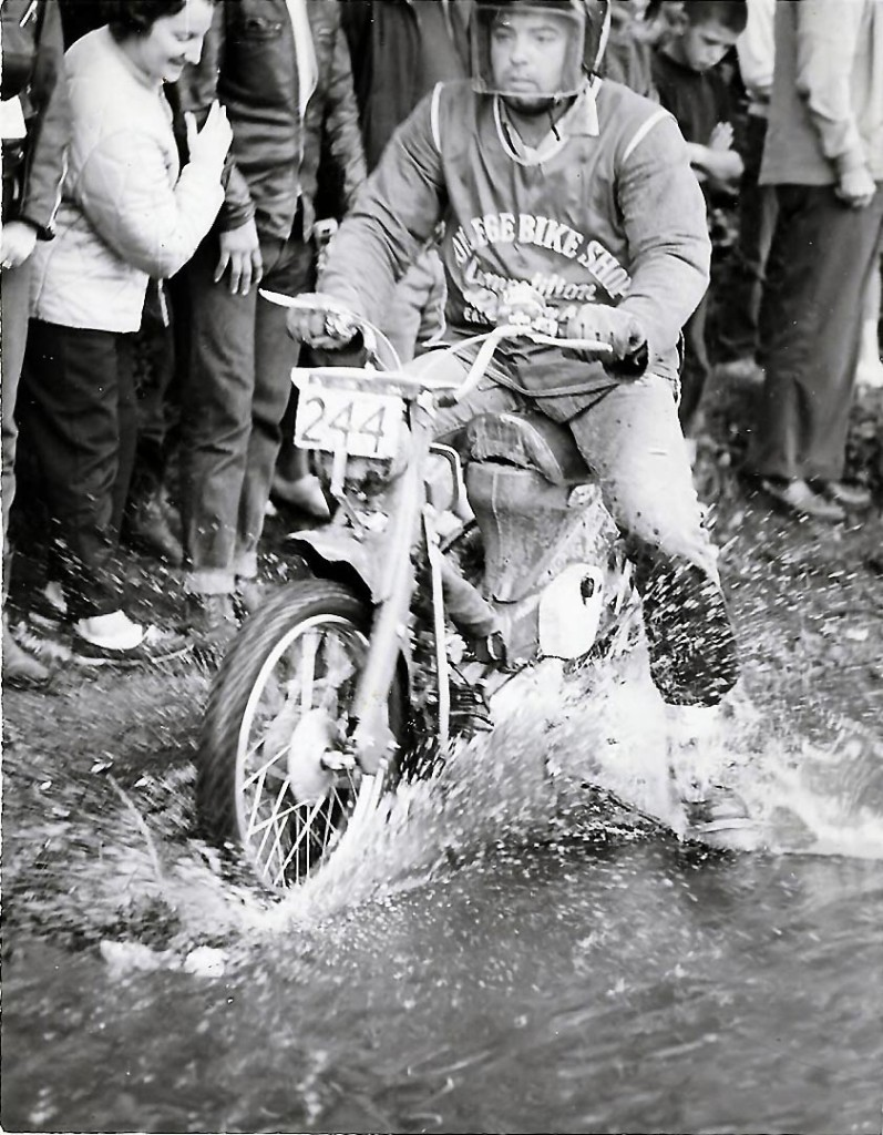 Honda Trail 90 Step-through in the Jackpine 500 Enduro 1971.